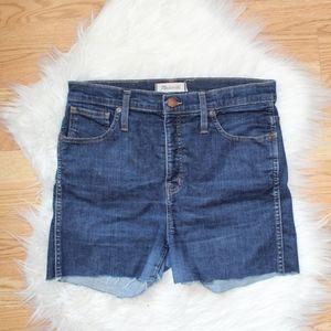 Madewell High Waist Cut Off Shorts 30